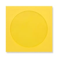 85 x 85mm DARK YELLOW MINI CD WINDOW ENVELOPES