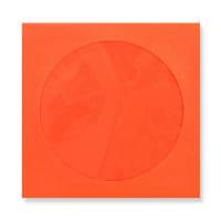 85 x 85mm ORANGE MINI CD WINDOW ENVELOPES