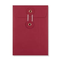 C6 RED STRING & WASHER ENVELOPES 180GSM