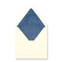 160 x 160mm Ivory Envelopes Lined With Blue Paper