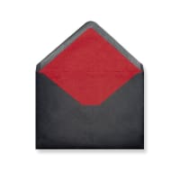 C5 Black Envelopes Lined With Red Paper
