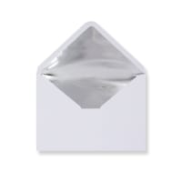 C5 White Envelopes Lined With Silver Foil Paper