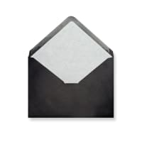 C5 Black Envelopes Lined With White Paper