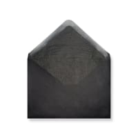 C6 Black Envelopes Lined With Black Paper