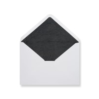 C6 White Envelopes Lined With Black Paper