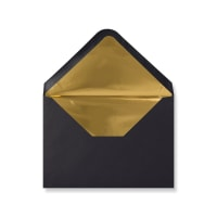 C6 Black Envelopes Lined With Gold Foil