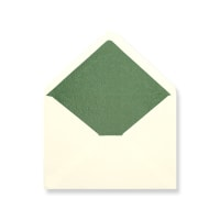 C6 Ivory Envelopes Lined With Green Paper