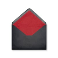 C6 Black Envelopes Lined With Red Paper