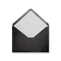 C6 Black Envelopes Lined With White Paper