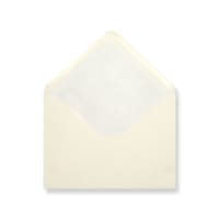 C6 Ivory Envelopes Lined With White Paper