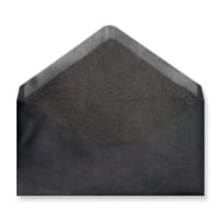 DL Black Envelopes Lined With Black Paper
