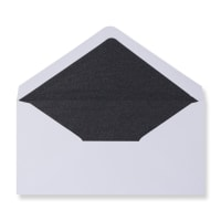 DL White Envelopes Lined With Black Paper