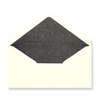 DL Ivory Envelopes Lined With Black Paper