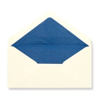 DL Ivory Envelopes Lined With Blue Paper