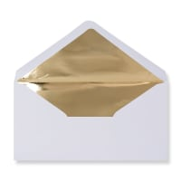 DL White Envelopes Lined With Gold Foil