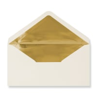 DL Ivory Envelopes Lined With Gold Foil