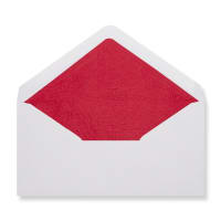 DL White Envelopes Lined With Red Paper