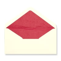 DL Ivory Envelopes Lined With Red Paper