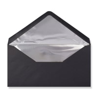 DL Black Envelopes Lined With Silver Foil