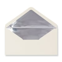 DL Ivory Envelopes Lined With Silver Foil