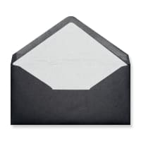 DL Black Envelopes Lined With White Paper