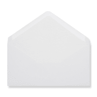 DL White Envelopes Lined With White Paper