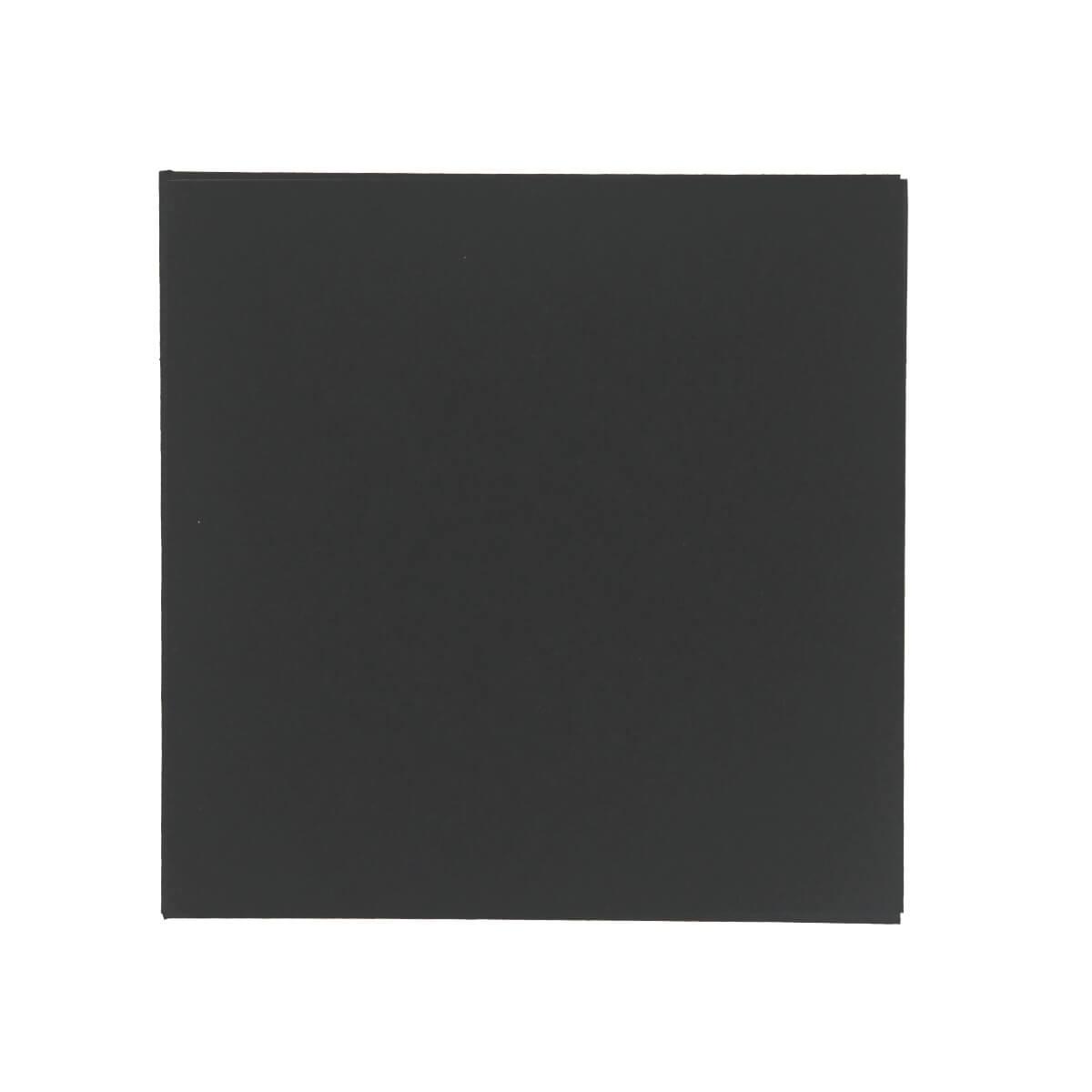 BLACK 100mm SQUARE ENVELOPE