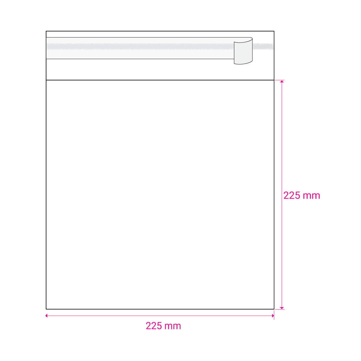 CLEAR CELLO BAGS to fit: 220 mm Square (SELF ADHESIVE)