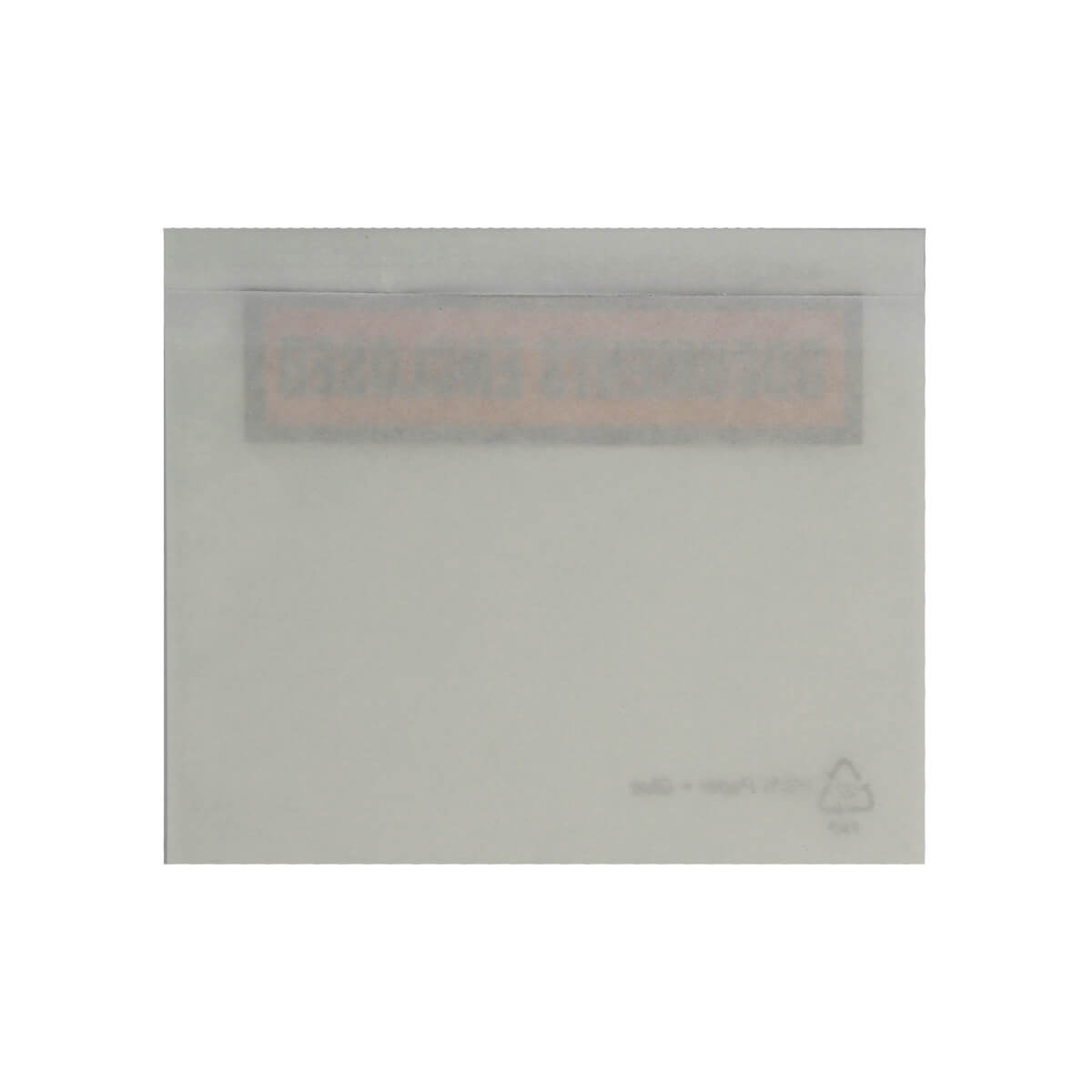 C6 CLEAR DOCUMENTS ENCLOSED WALLETS PRINTED (114 x 162mm)