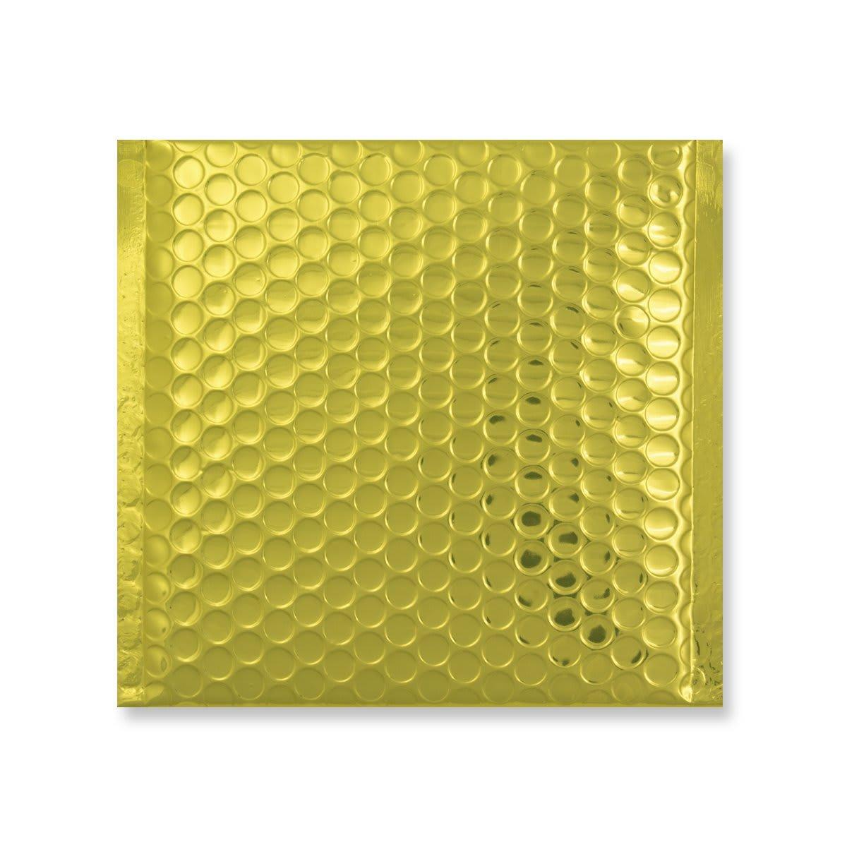 165MM SQUARE GLOSS METALLIC GOLD PADDED ENVELOPES