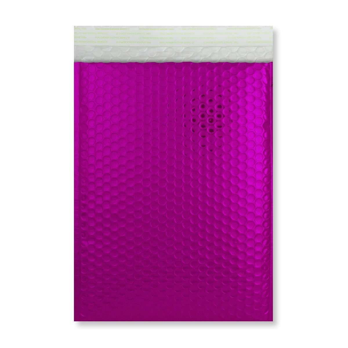 C4 GLOSS METALLIC HOT PINK PADDED ENVELOPES (324 x 230MM)