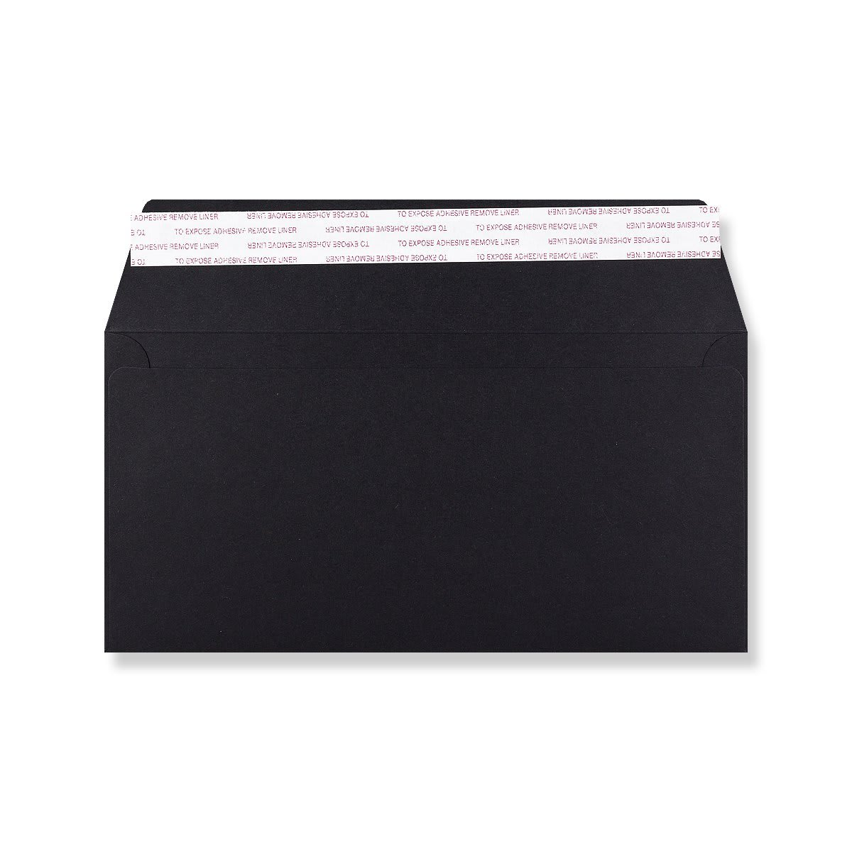 DL BLACK 180GSM PEEL AND SEAL ENVELOPES