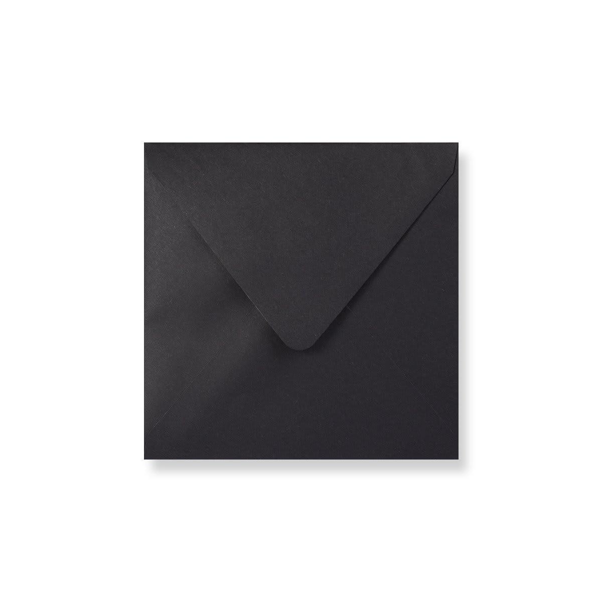 160 x 160mm Black Envelopes Lined With Black Paper