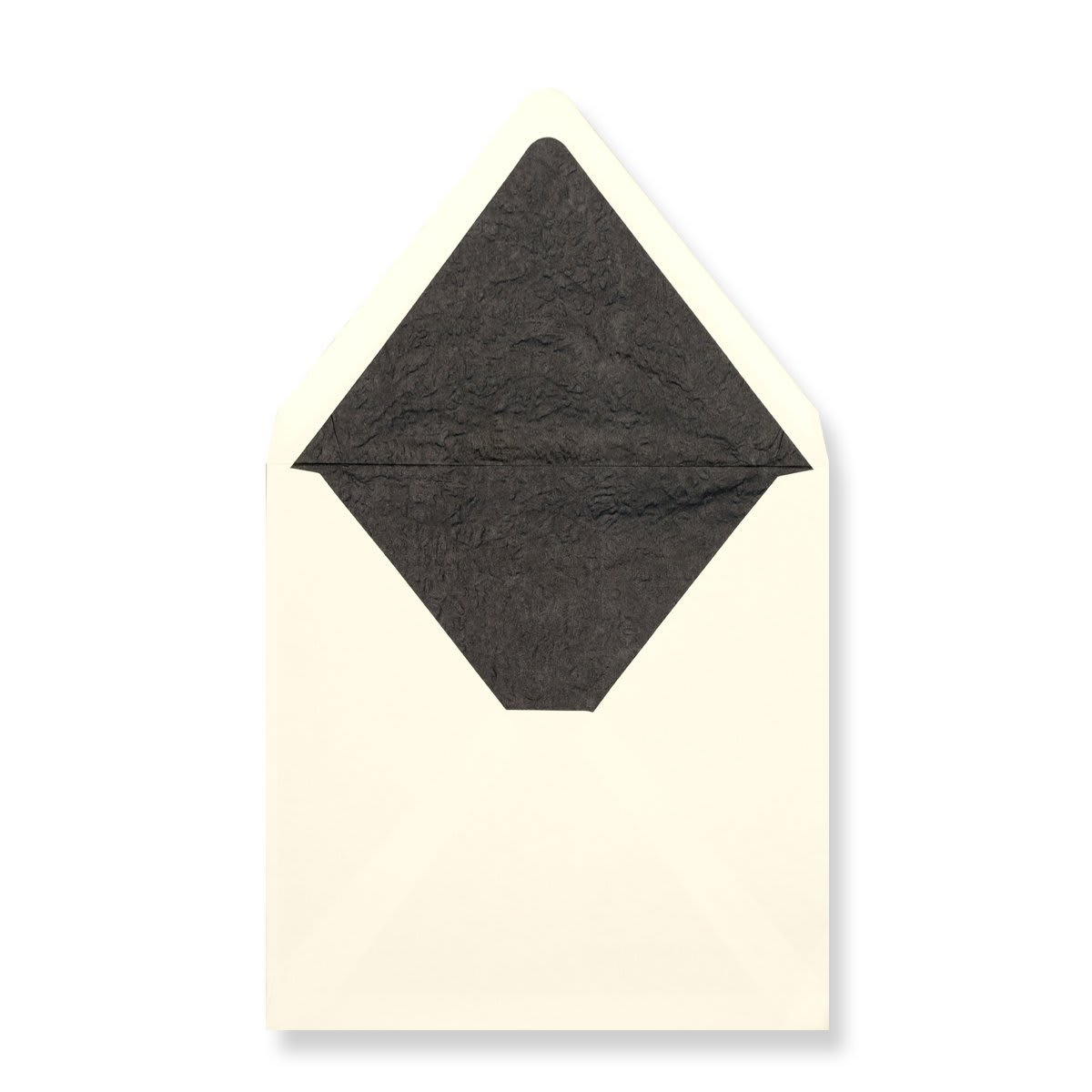 160 x 160mm Ivory Envelopes Lined With Black Paper