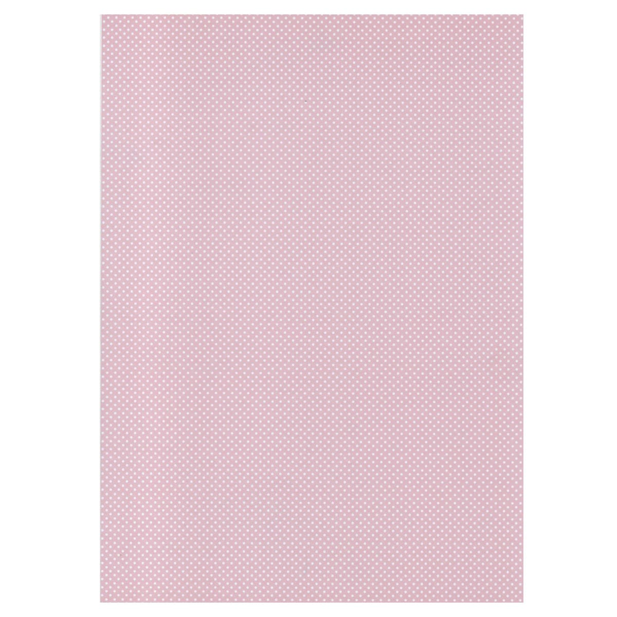 A4 BABY PINK MICRO DOT CARD 300 GSM