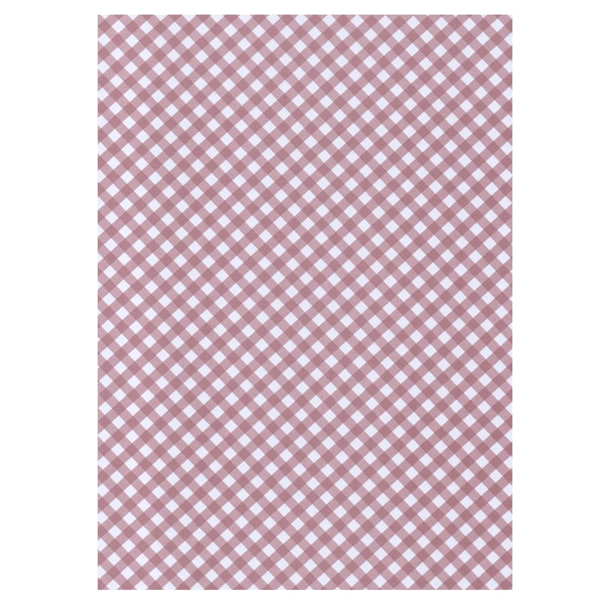 A4 DUSKY PINK BRILLIANCY CHECK GINGHAM CARD 300 GSM