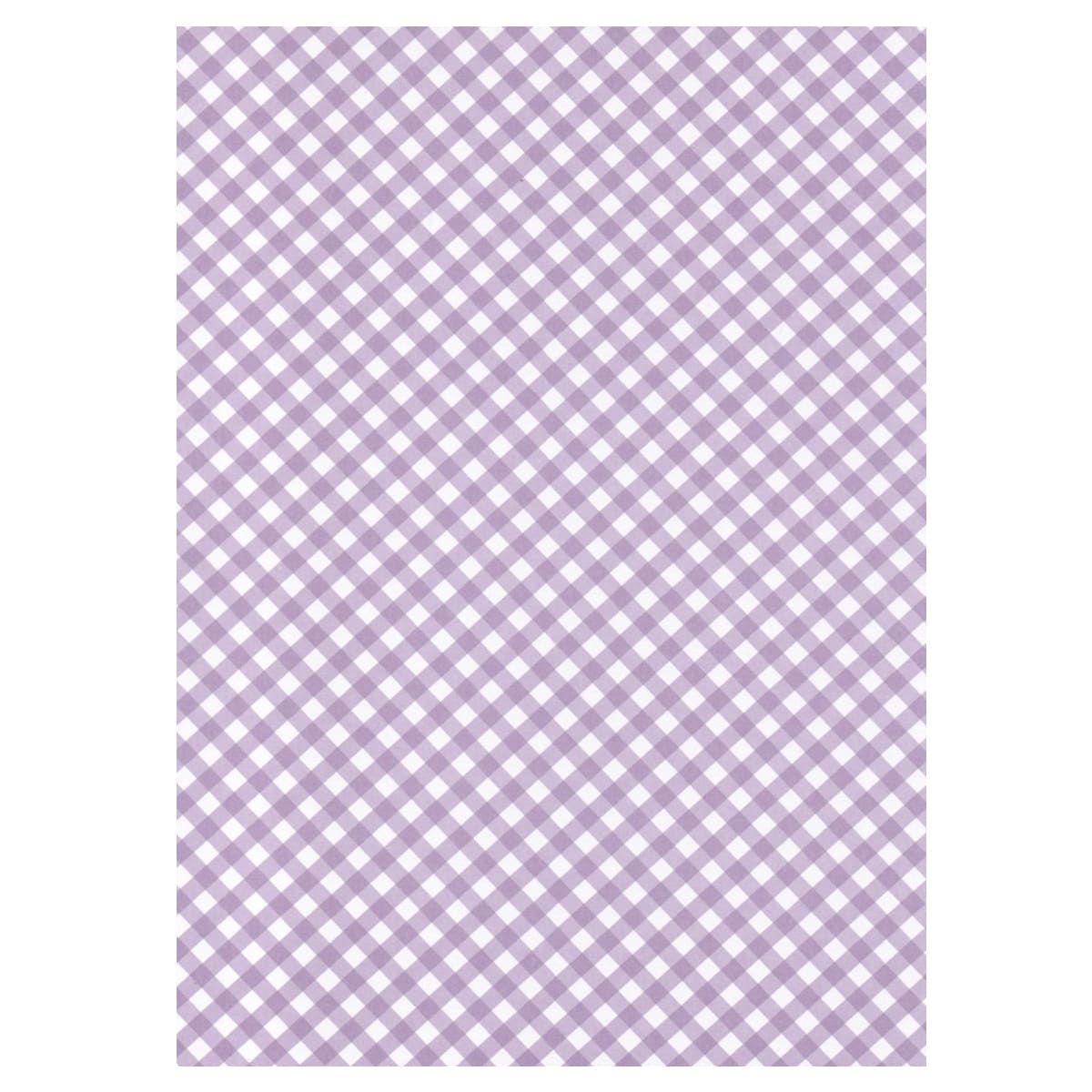 A4 LILAC BRILLIANCY CHECK GINGHAM CARD 300 GSM