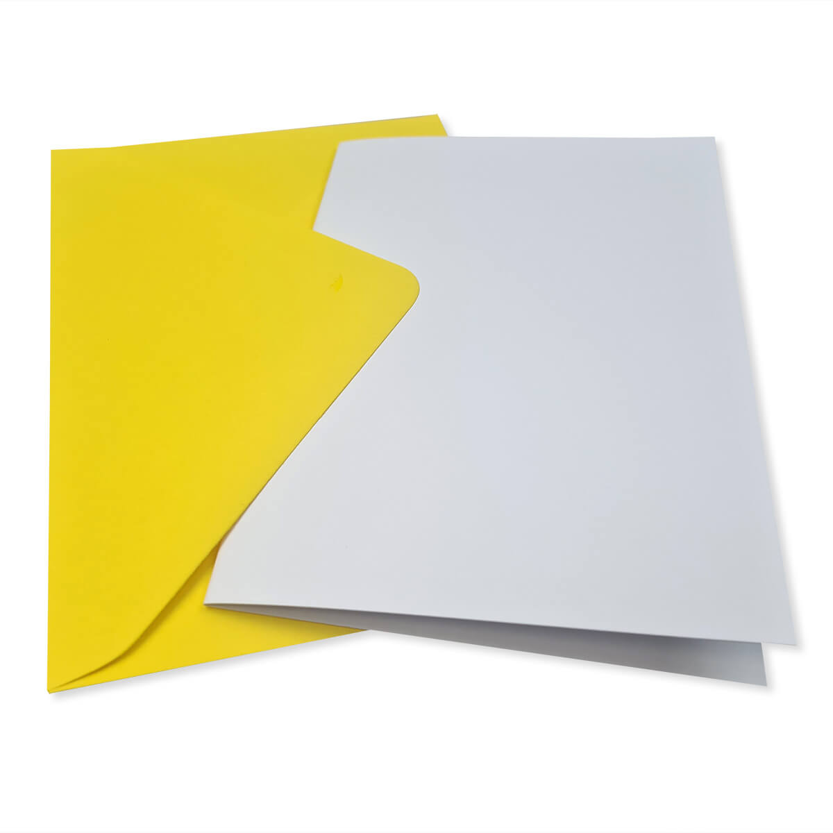 A6 WHITE CARD BLANKS & BRIGHT YELLOW ENVELOPES (PACK OF 10)