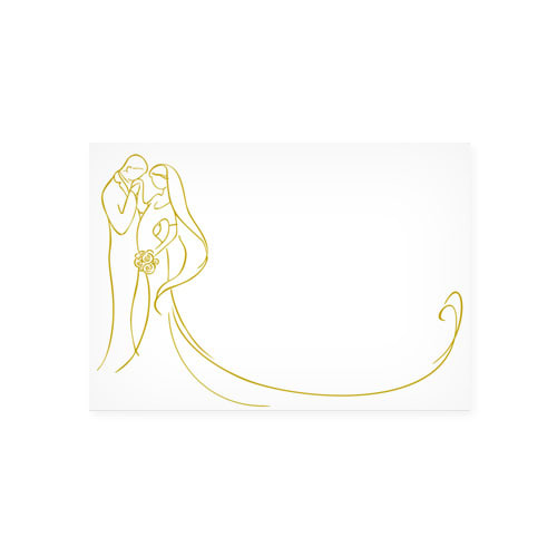 C6 PRINTED GOLD BRIDE AND GROOM ENVELOPES (PACK OF 10)