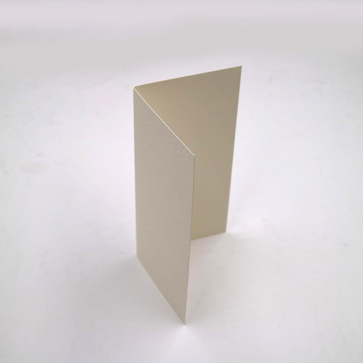 A5 IVORY FINE LINEN SINGLE FOLD CARD BLANKS 300GSM