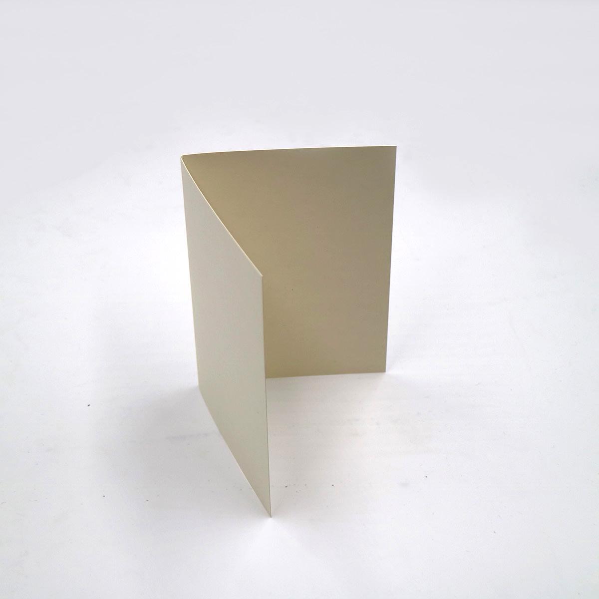 A5 SMOOTH IVORY SINGLE FOLD CARD BLANKS 300GSM