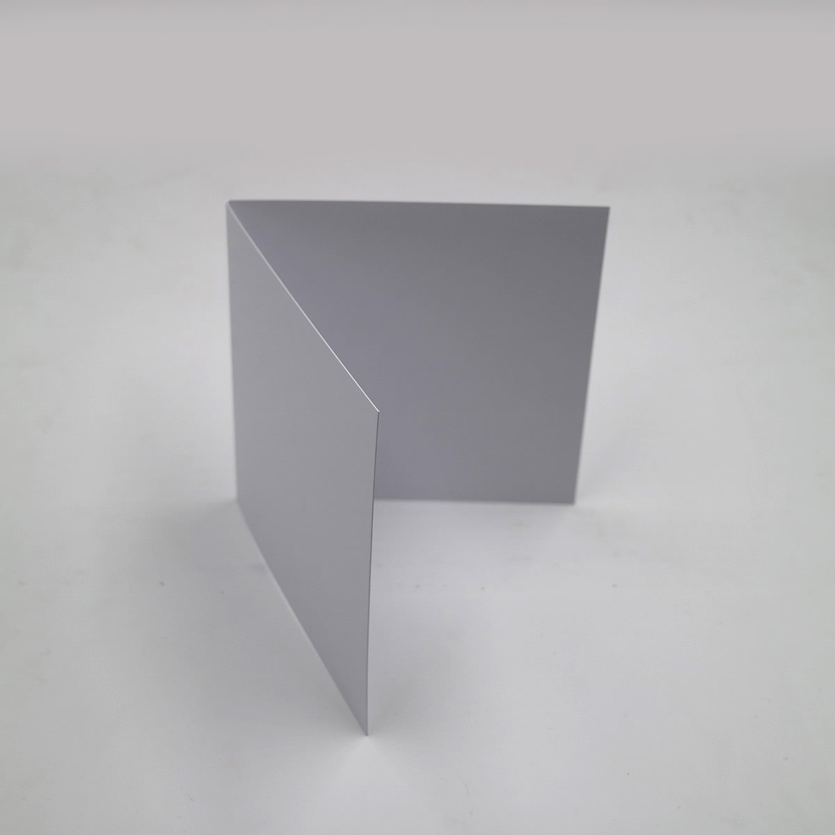 100mm SQUARE SMOOTH WHITE SINGLE FOLD CARD BLANKS 300GSM