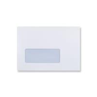C6 WHITE WINDOW ENVELOPES 90GSM