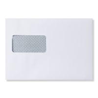C5 WHITE WALLET PEEL AND SEAL HIGH WINDOW OPAQUE ENVELOPES