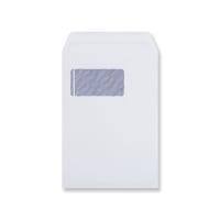 C5 WHITE POCKET VERTICAL WINDOW ENVELOPES