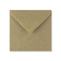 RIBBED KRAFT 130mm SQUARE ENVELOPE