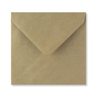RIBBED KRAFT 140mm SQUARE ENVELOPES