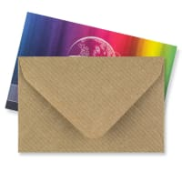 BROWN RIBBED 62 x 94mm ENVELOPES