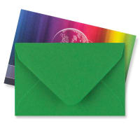 XMAS GREEN 62 x 94mm ENVELOPES