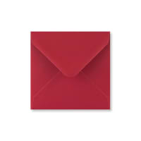SCARLET RED 116mm SQUARE ENVELOPES